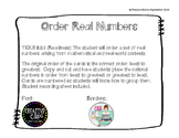 Compare & Order Real Numbers