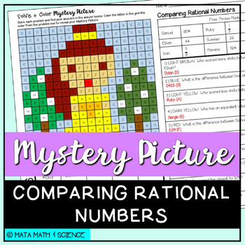 Compare Rational Numbers: Mystery Picture (Princess)
