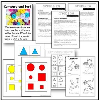 Compare & Sort - Kindergarten Science NGSS