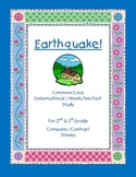 """Compare Texts About The Same Topic for Informational Text """"Earthquake"""" Gr. 2-3"""
