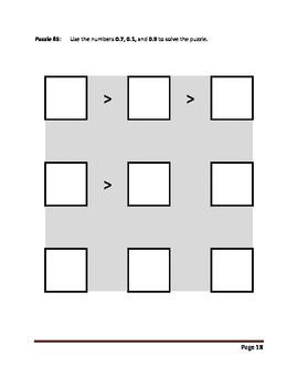 Compare These Decimals (Volume 7) Puzzle Book