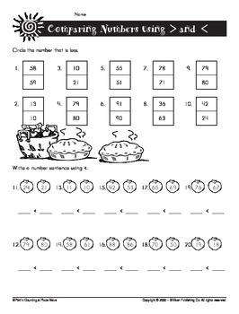 Compare Two-Digit Numbers (CCSS 1.NBT.B.3)