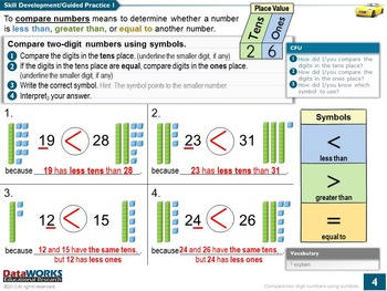 Compare Two-Digit Numbers Using Symbols