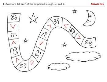 Compare Two Two-digit Numbers (H&I Activity Sheets)