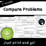 Compare Word Problems-Student Pages (First Grade, 1.OA.1)