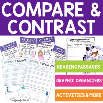Comprehension Skill: Compare and Contrast: 12 No Prep Printable Activities