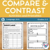 Compare and Contrast Printables Posters and Reading Passages