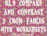 Compare and Contrast 2 Crow Fables - 3 different pairs of stories and worksheets