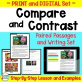 Compare and Contrast Passages With Paired Texts for Reading and Writing BUNDLE