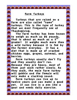 Compare and Contrast-A Tale of Two Turkeys