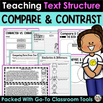 Compare and Contrast - Activities Printables Reading Passages