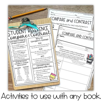 Compare and Contrast Activities and Task Cards