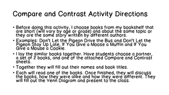 Compare and Contrast Activity