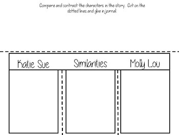 Compare and Contrast Activity Interactive Notebook Back to School