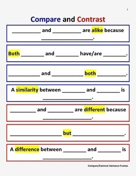 Compare and Contrast Activity Pack