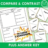 Compare and Contrast Activity for Speech Therapy