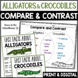 Compare and Contrast Alligators & Crocodiles - Reading Comprehension Activities