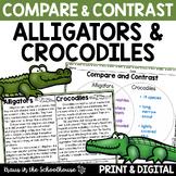 Compare and Contrast Alligators & Crocodiles - Reading Comprehension Activities