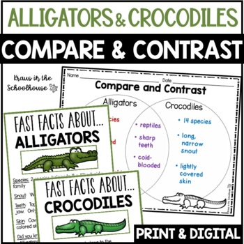 Compare and Contrast Alligators & Crocodiles - Reading Com