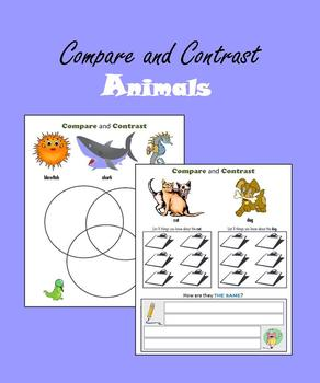 Compare and Contrast:  Animals