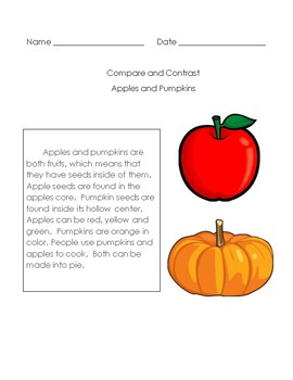 Compare and Contrast Apples/Pumpkins