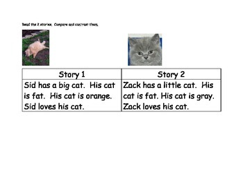 Compare and Contrast Beginning Reader Center 2