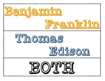 Compare and Contrast (Ben Franklin VS Thomas Edison)
