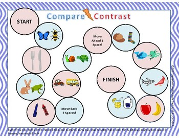 Compare and Contrast Board Game Freebie