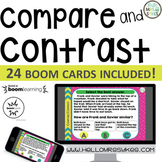Compare and Contrast ~ Boom Cards 24 questions, grades 2-4