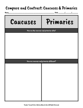 Compare and Contrast: Caucuses and Primaries