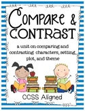 Compare and Contrast ~ Characters, Setting, Plot, and Theme ~ Any Books