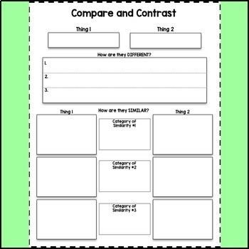 Compare and Contrast Charts