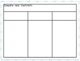 Compare and Contrast Charts Freebie