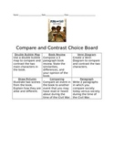 Compare and Contrast Choice Board