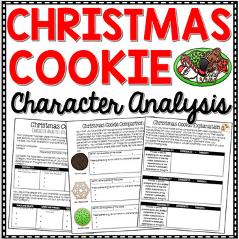 Christmas Writing - Compare and Contrast Christmas Cookie Character Analysis