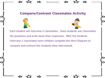 Compare and Contrast Classmate Activity