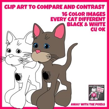 16 Funny Cats for Comparisons, Comparatives and Superlatives, Set 1