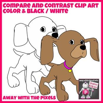 13 Puppy Clip Art for Comparisons, Comparatives, Superlatives Set3