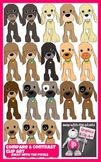 18 Puppy Clip Art for Comparatives, Superlatives, Comparis