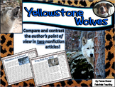 Compare and Contrast Close Reading Lesson Yellowstone Wolves