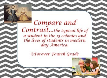 Compare and Contrast:  Colonial Students and Modern Day Students
