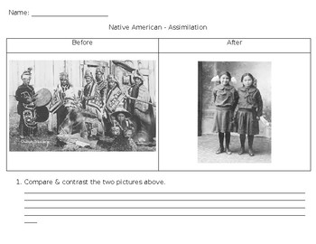 Compare and Contrast - DBQ Before and After - Dawes Act