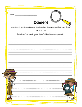 Compare and Contrast Detectives