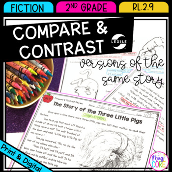 Compare and Contrast Different Versions of Stories- 2nd Grade RL.2.9