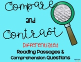 Compare and Contrast Differentiated Leveled Texts and Questions