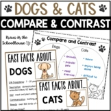 Compare and Contrast Dogs and Cats   Easel Activity Distance Learning