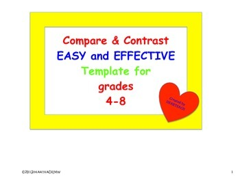Compare and Contrast Easy and Effective Template