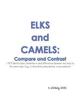 Compare and Contrast: Elks and Camels