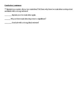 Compare and Contrast Essay Brainstorm Page and Writing Checklist