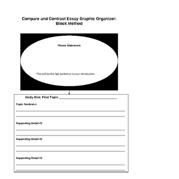 compare and contrast essay graphic organizers by miss kris ela tpt compare and contrast essay graphic organizers